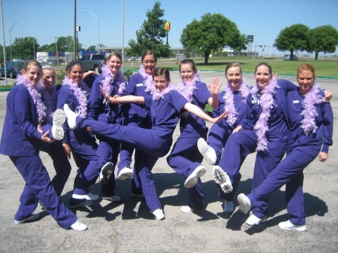 Dental Hygiene Program graduating class put their best foot forward after completing their structured and rigid curriculum. Photo courtesy of Janet Turley