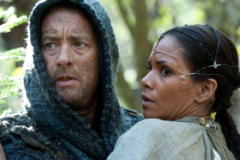 "Tom Hanks and Halle Berry star in the adaptation of David Mitchell's 2004 novel ""Cloud Atlas"".  Photo courtesy of Warner Bros. Studio"