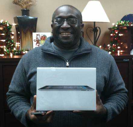 The winner of the iPad 2 from the fall Student Success Workshop drawing was Edward Miller. Congrats!