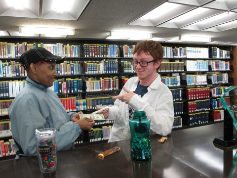 Library Club students are selling candy bars for Valentine's day as a fundraiser for their organization.