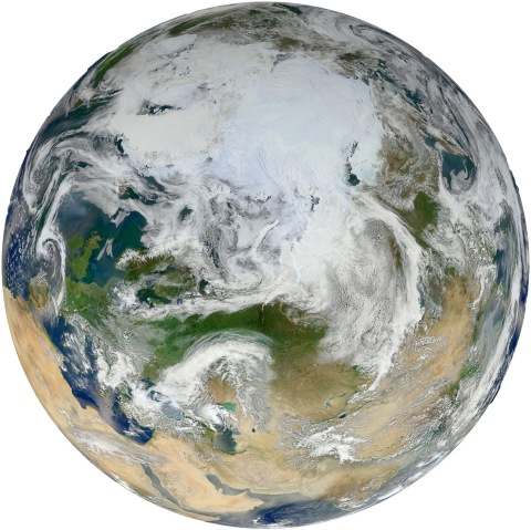 Blue Marble 2012-Arctic View