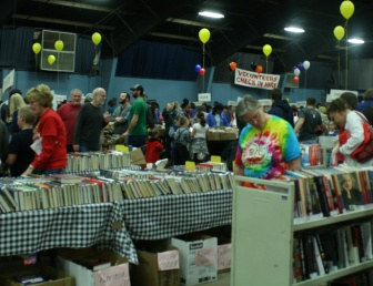 The Oklahoma Friends of the Library's annual book sale attracts thousands of attendees to the Oklahoma Expo Hall on Feb. 21 at the Oklahoma State Fairgrounds in northwest Oklahoma City.  Photo  by Marisa Caban