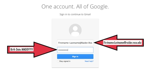 How to log in to the new student G-mail accounts for Rose State students