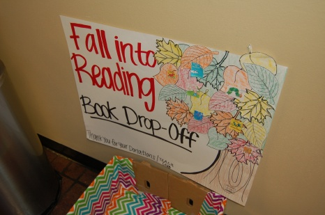 Book Drop off for 'Fall Into Reading""