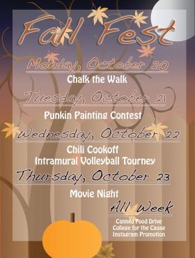 Fall Fest Event List