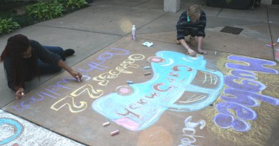 Chalk the walk contestant
